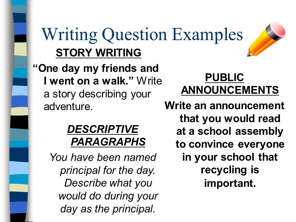 Writing Question Examples