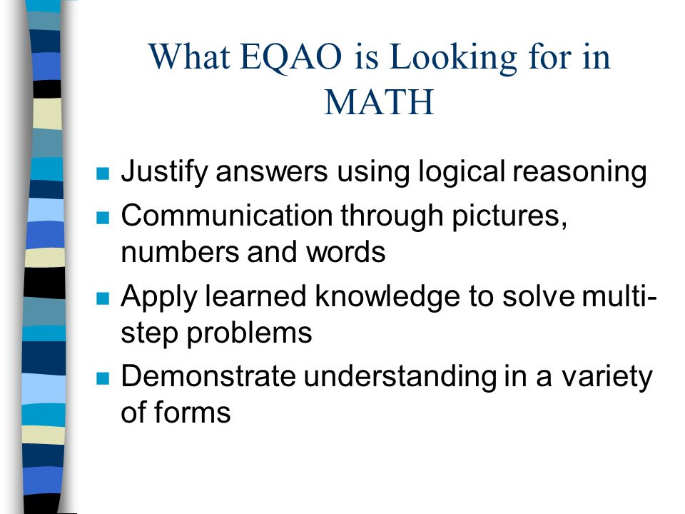 What EQAO is Looking for in MATH