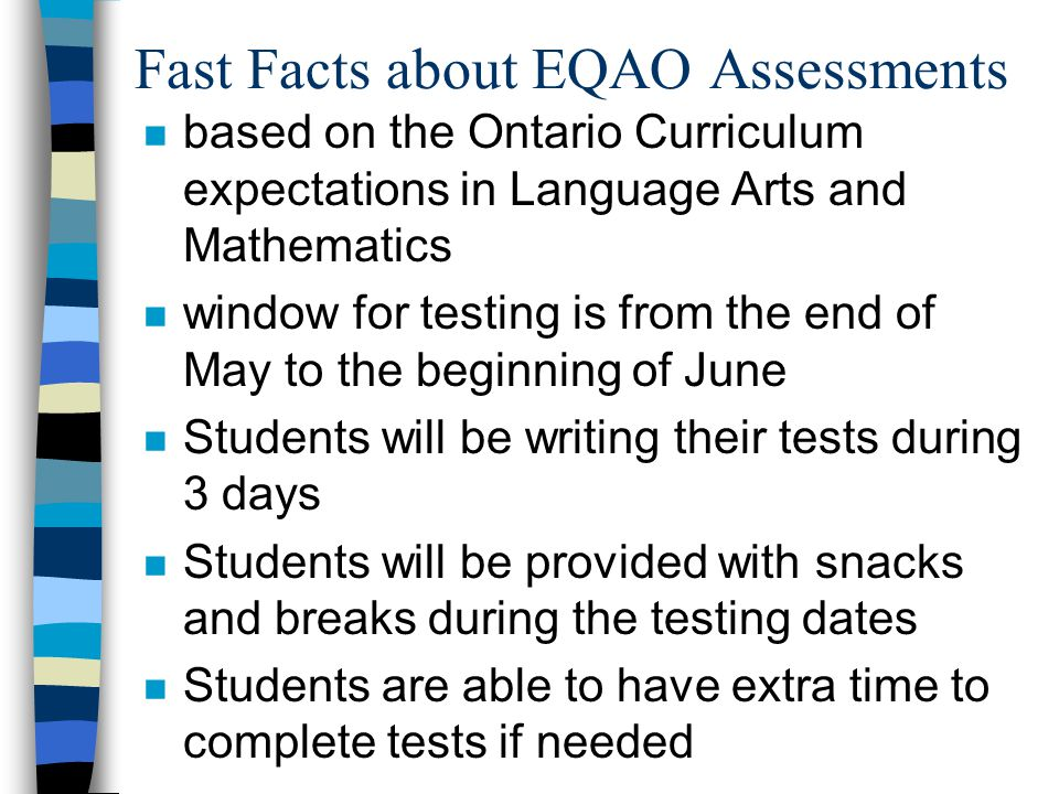 Fast Facts about EQAO Assessments