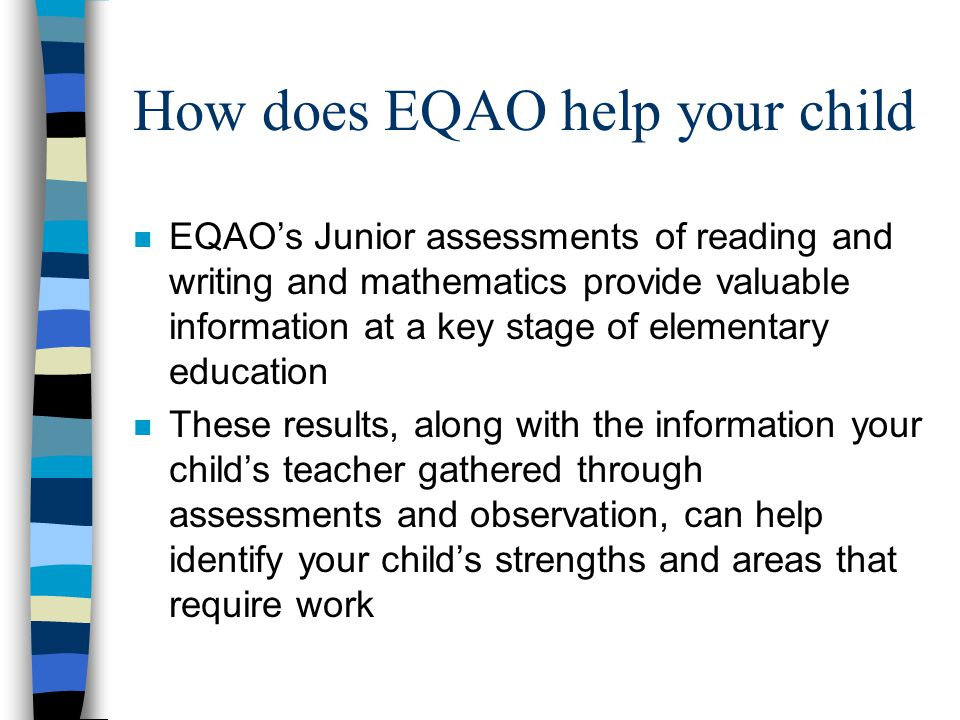 How does EQAO help your child