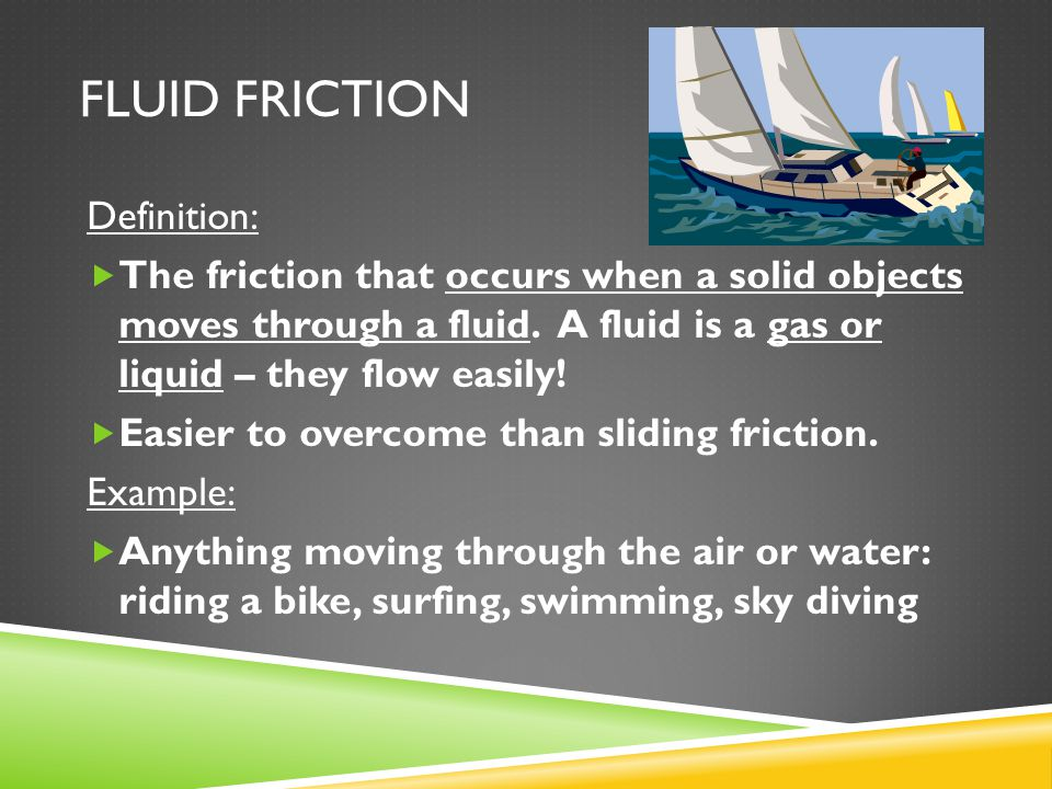 Sliding friction example