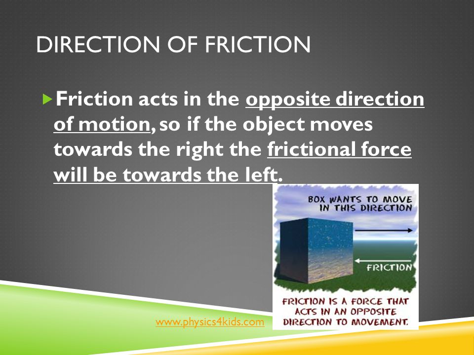 Direction of Friction