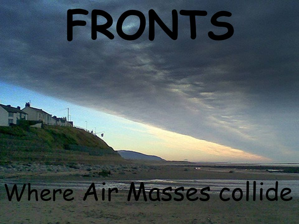 FRONTS Where Air Masses collide