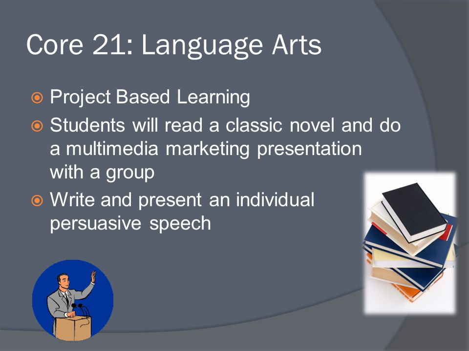Core 21: Language Arts Project Based Learning