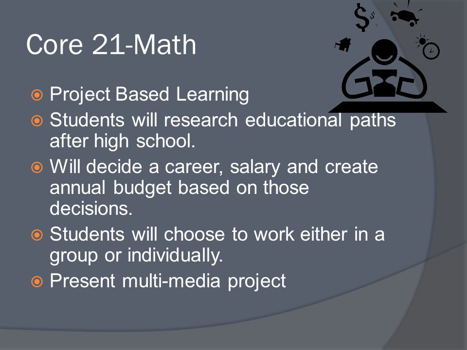 Core 21-Math Project Based Learning