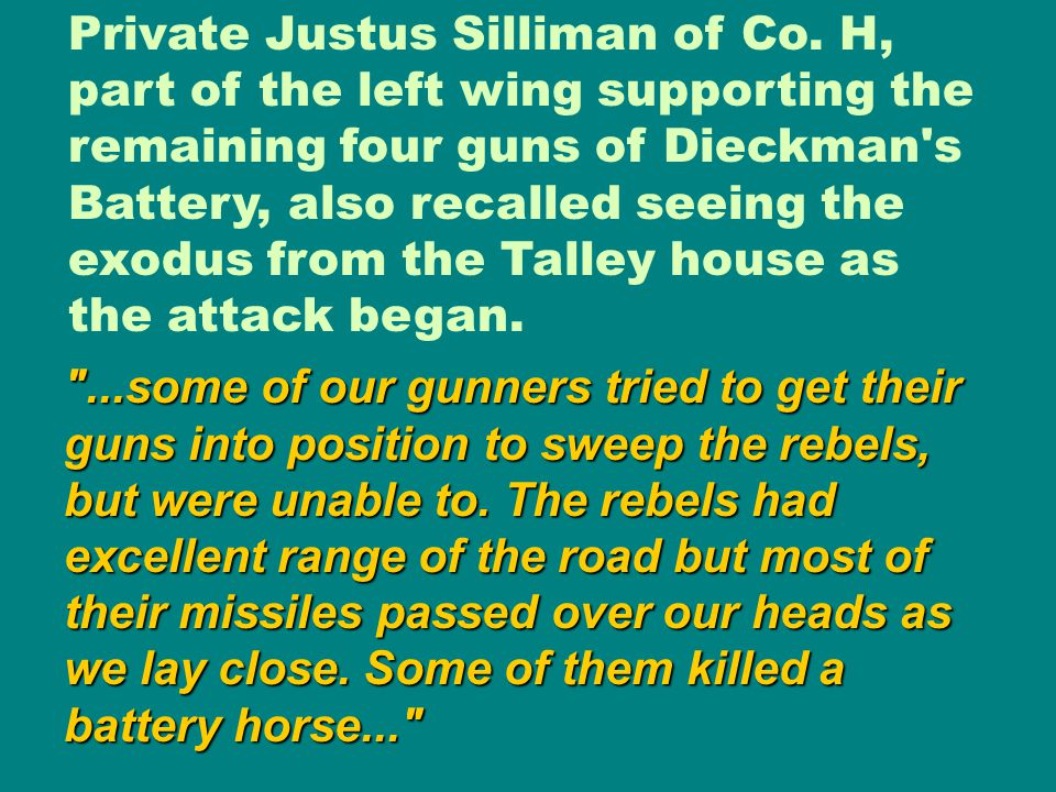 Private Justus Silliman of Co