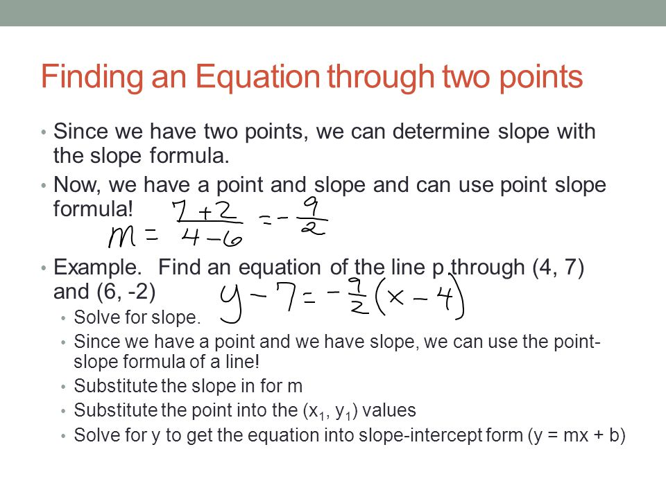 Finding an Equation through two points