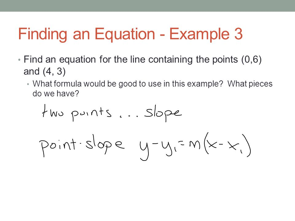 Finding an Equation - Example 3