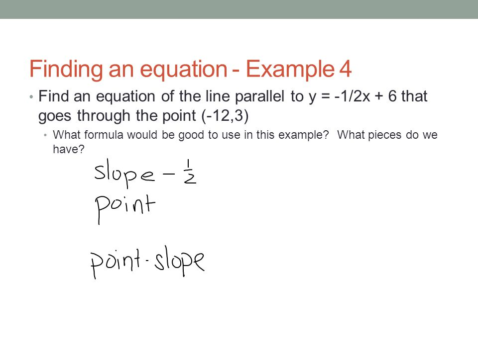 Finding an equation - Example 4