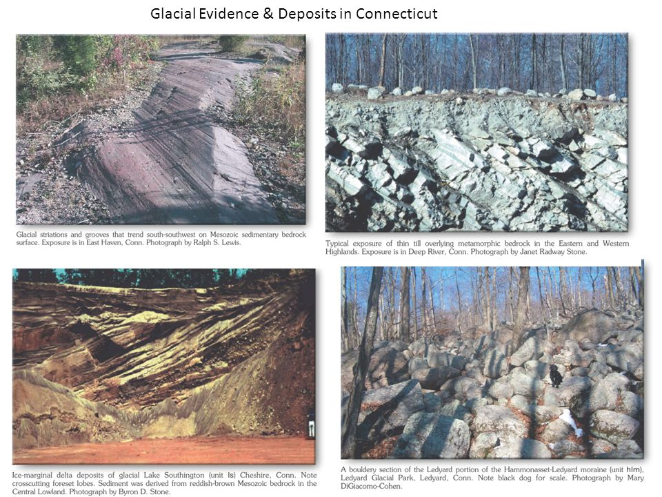 Glacial Evidence & Deposits in Connecticut