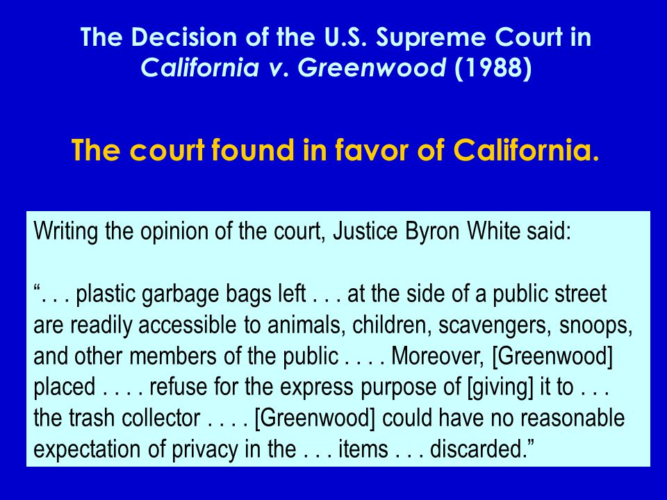 The court found in favor of California.