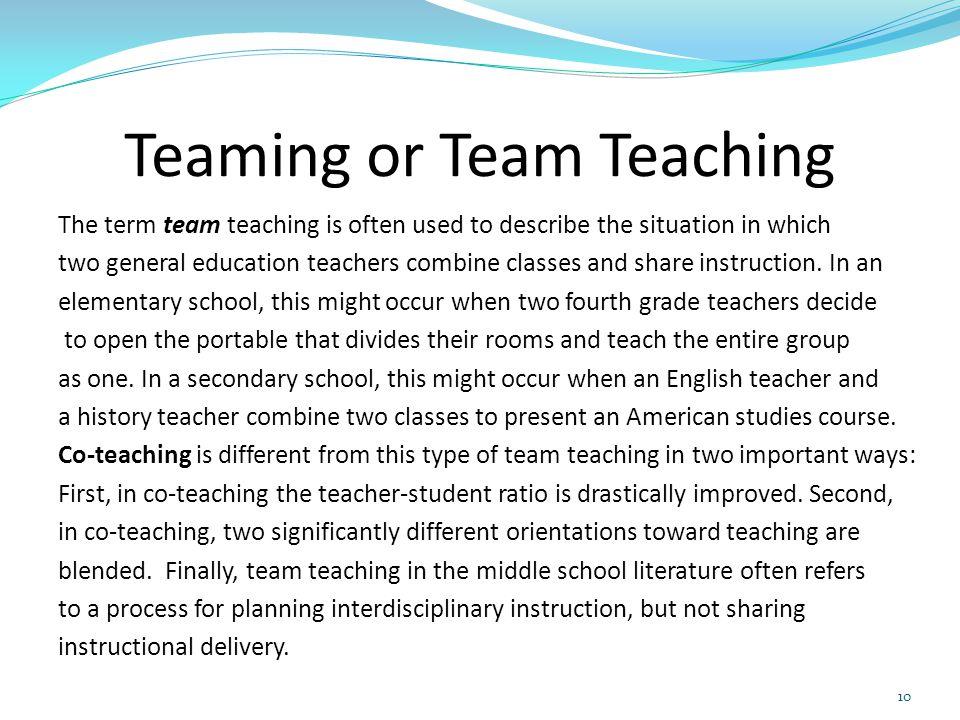 Teaming or Team Teaching