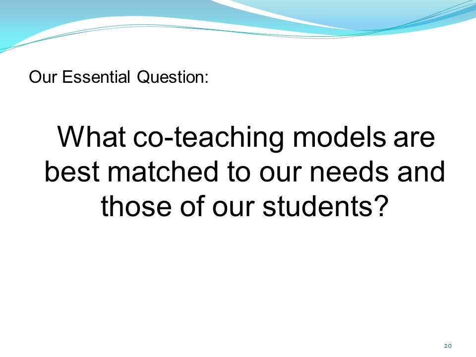 Our Essential Question: