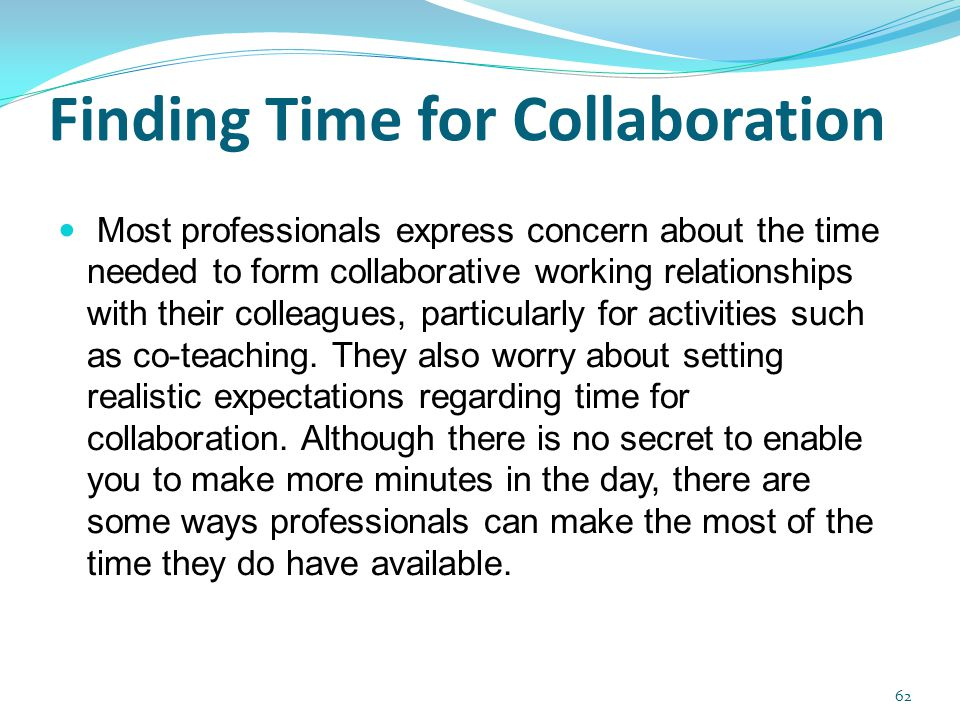 Finding Time for Collaboration