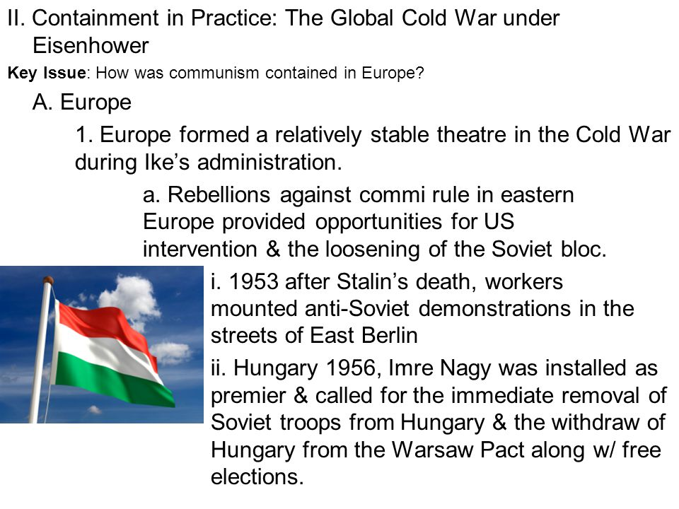 II. Containment in Practice: The Global Cold War under Eisenhower