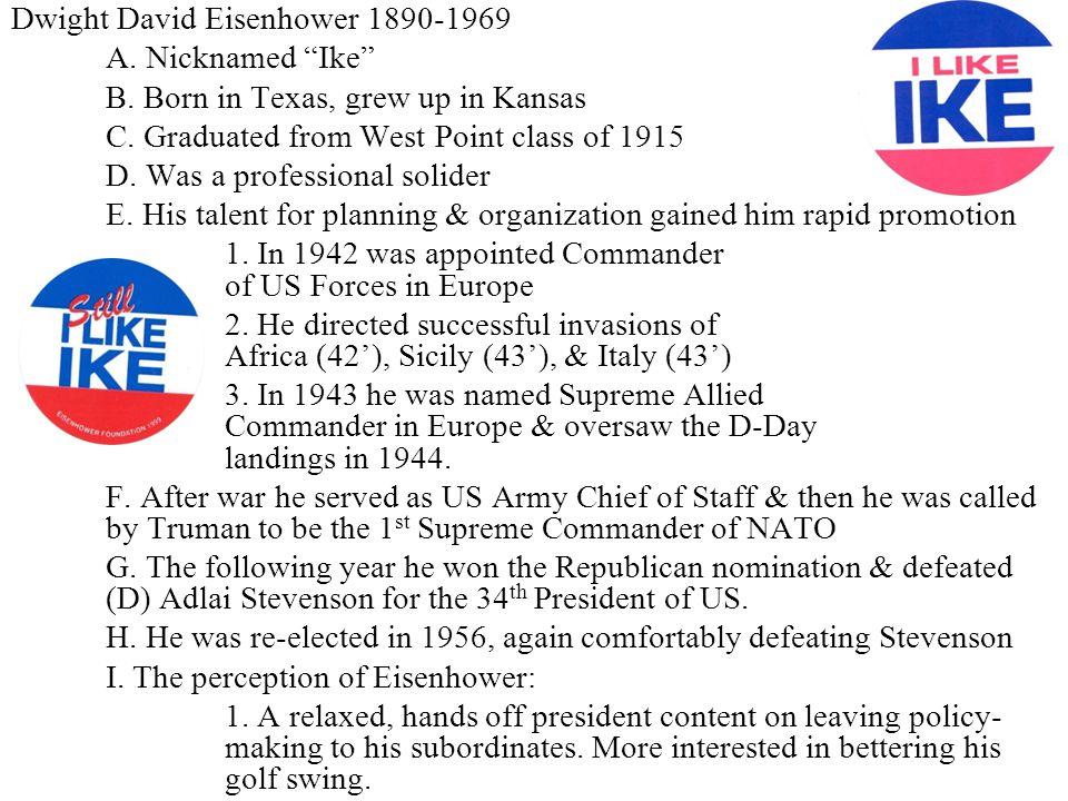Dwight David Eisenhower 1890-1969