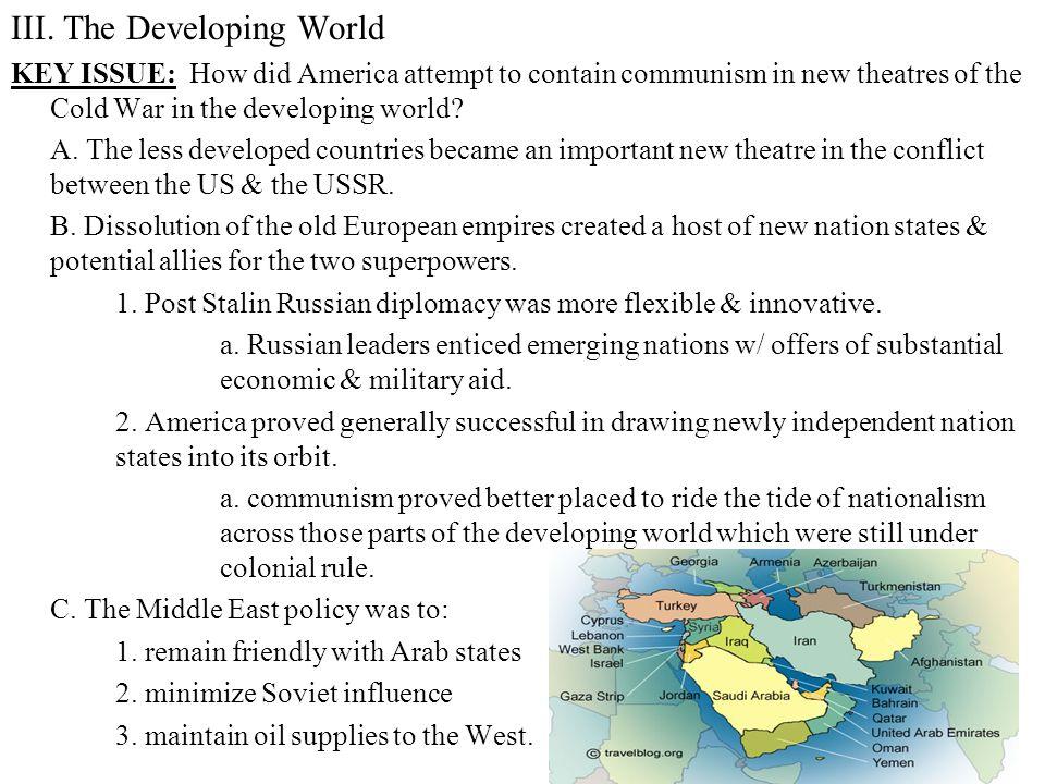 III. The Developing World