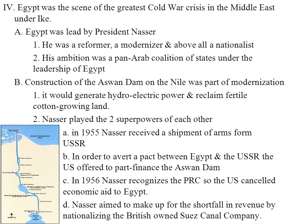 A. Egypt was lead by President Nasser