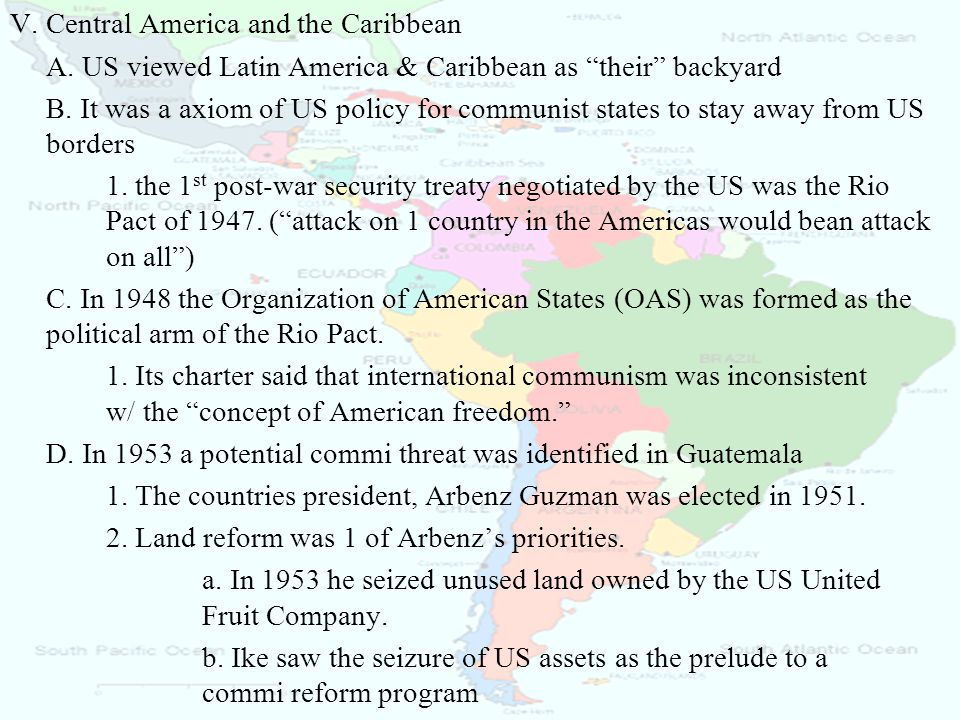 V. Central America and the Caribbean