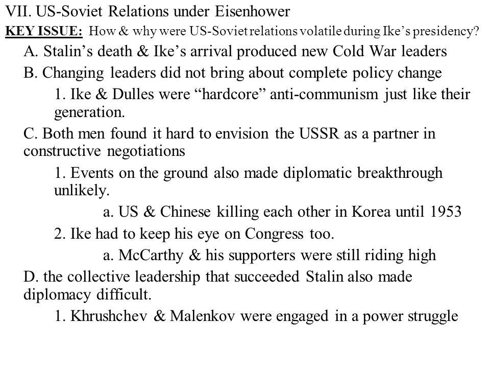 VII. US-Soviet Relations under Eisenhower