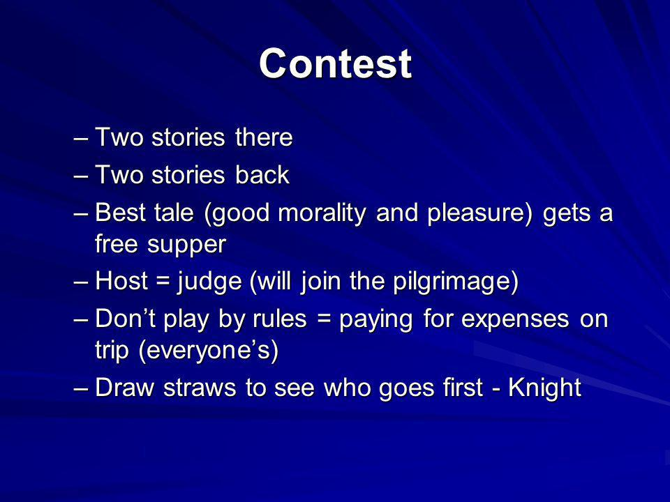 Contest Two stories there Two stories back