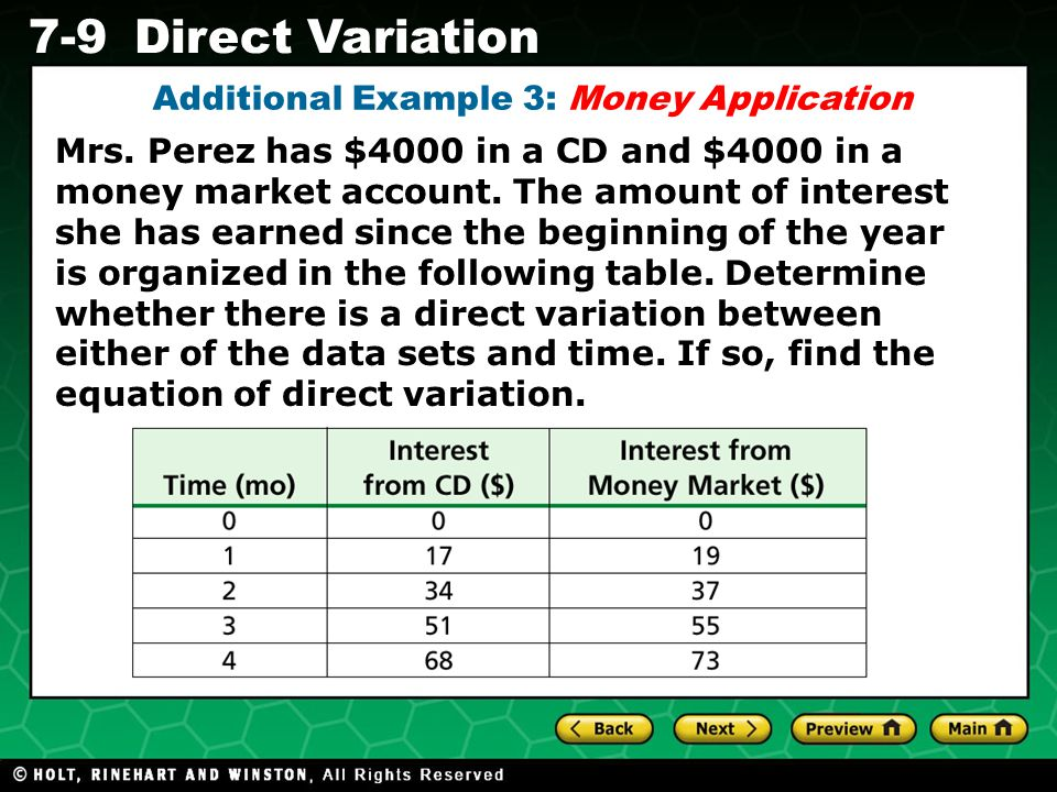 Additional Example 3: Money Application