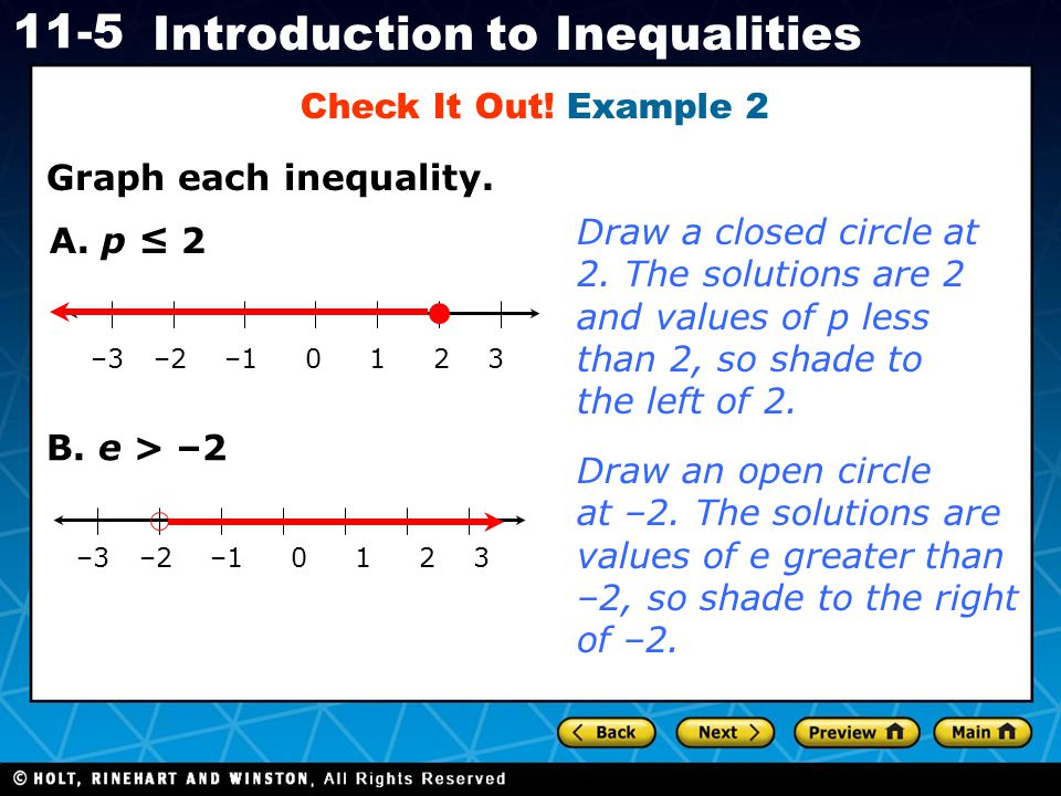 Check It Out! Example 2 Graph each inequality.