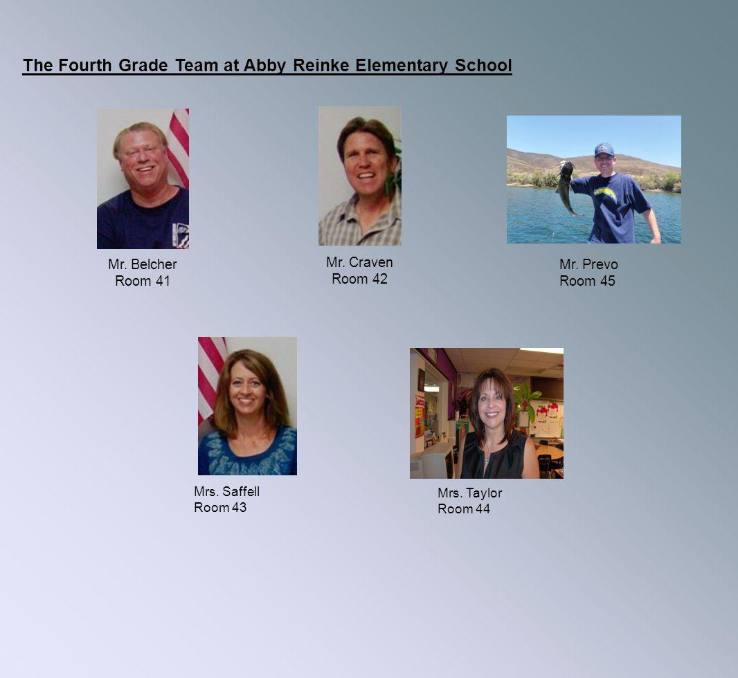 The Fourth Grade Team at Abby Reinke Elementary School