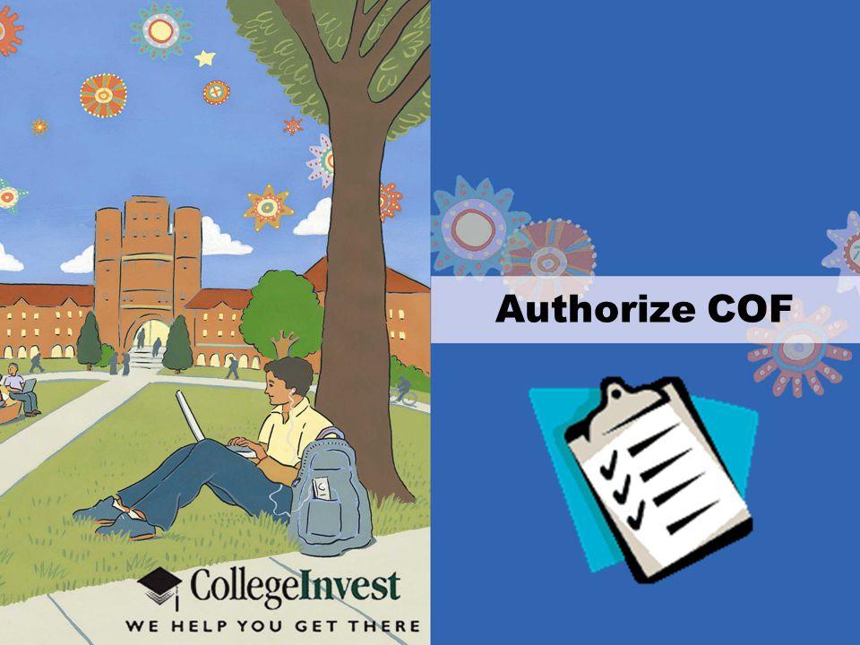 Authorize COF