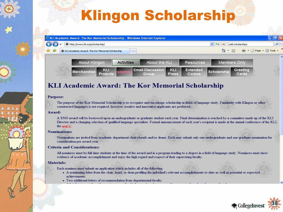Klingon Scholarship