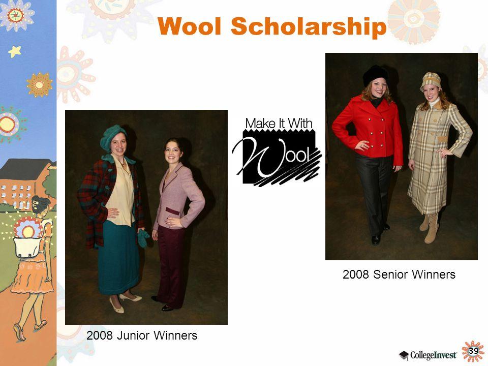 Wool Scholarship 2008 Senior Winners 2008 Junior Winners