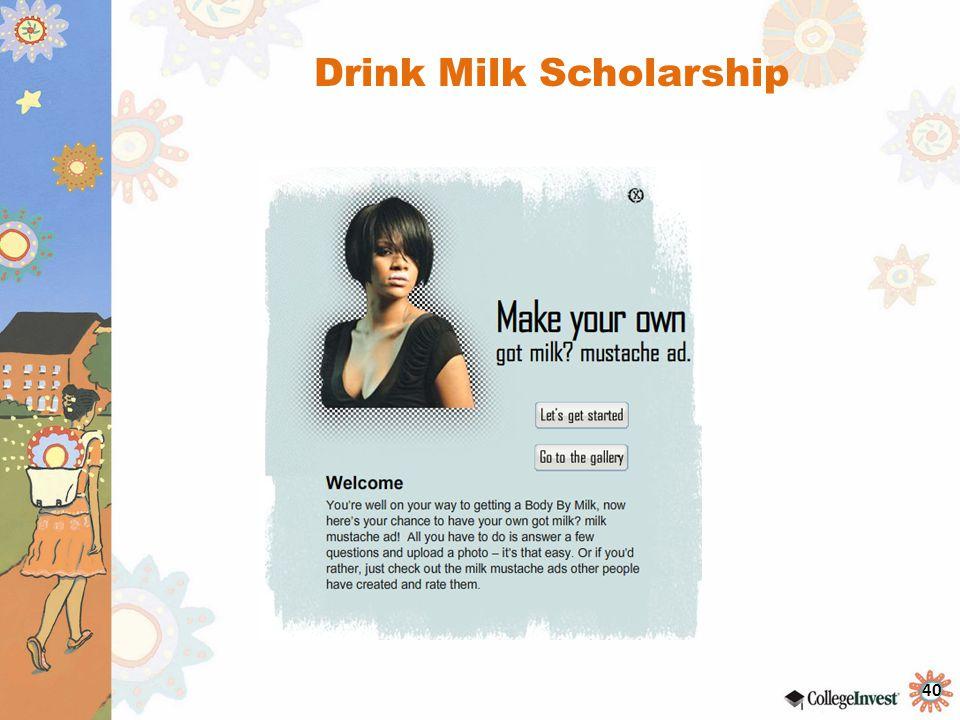 Drink Milk Scholarship