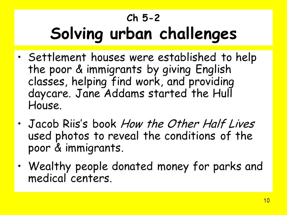Ch 5-2 Solving urban challenges