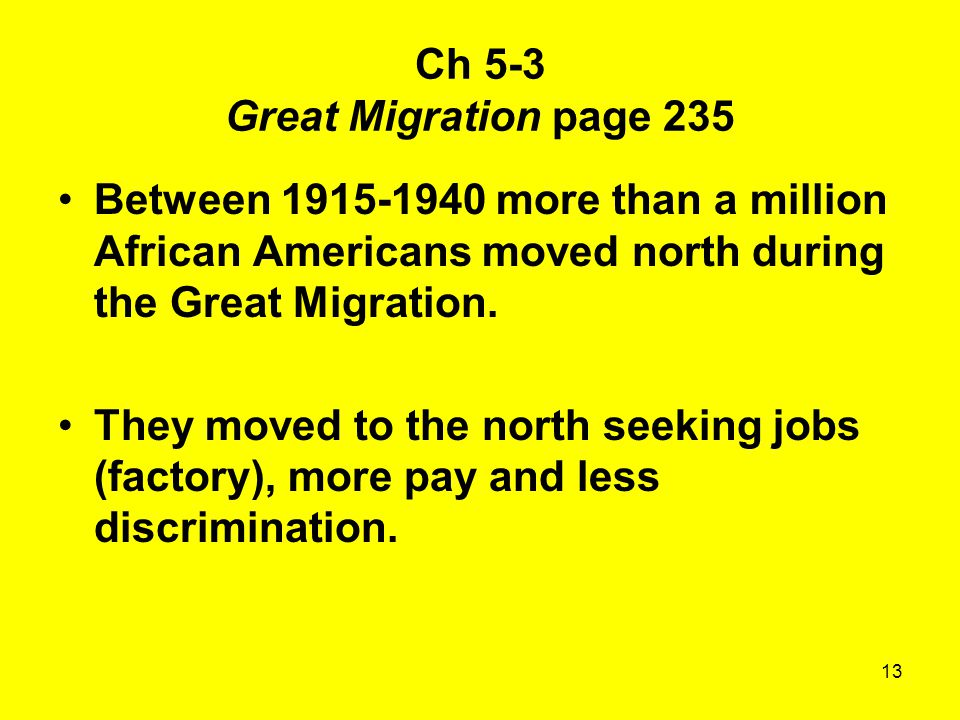Ch 5-3 Great Migration page 235