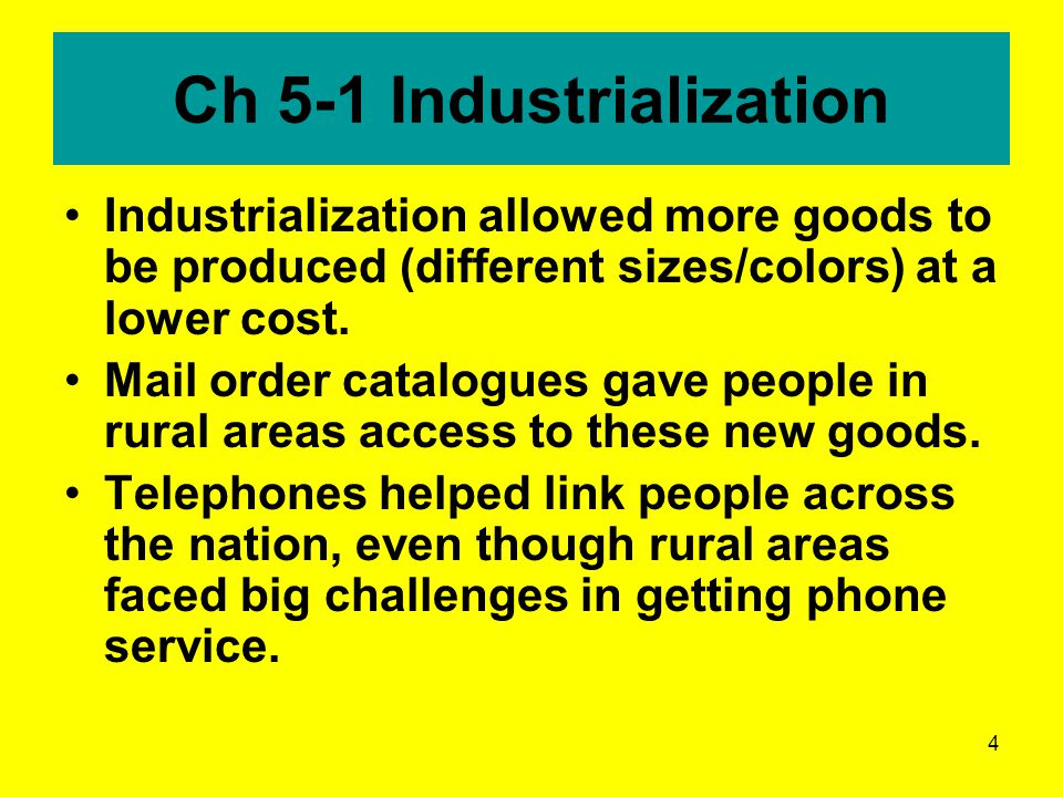 Ch 5-1 Industrialization