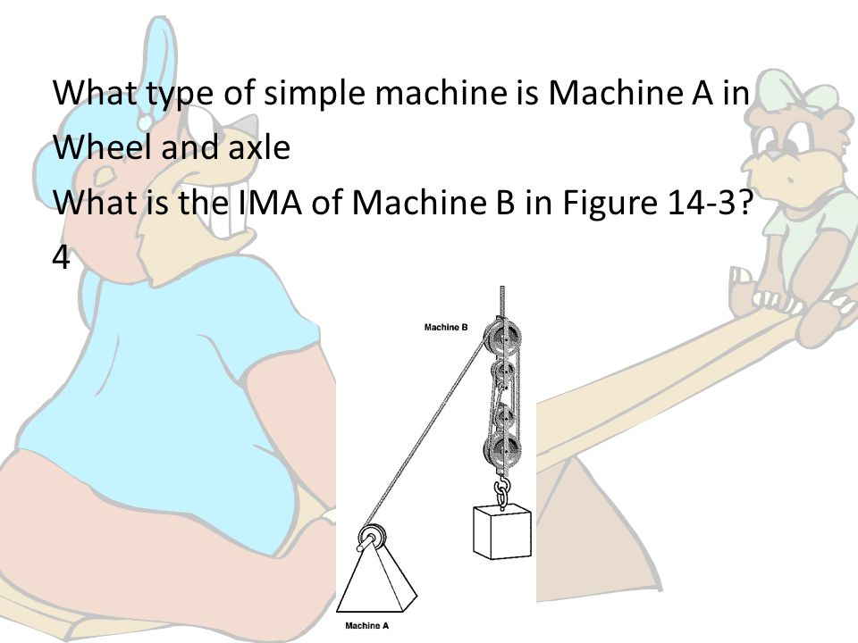 What type of simple machine is Machine A in