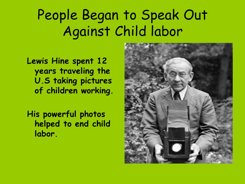 People Began to Speak Out Against Child labor