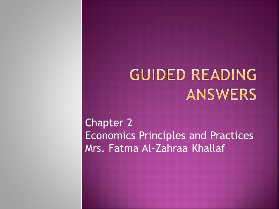 Guided reading Answers