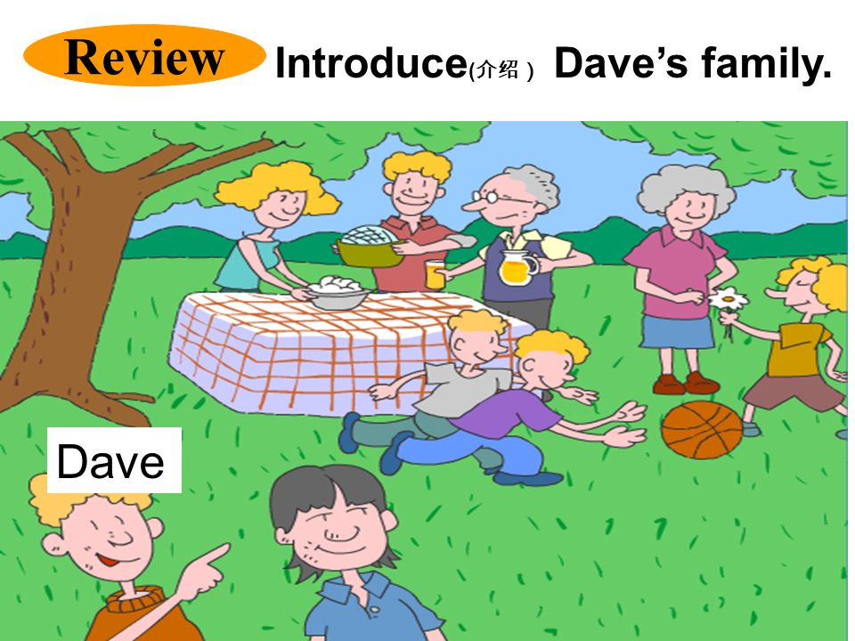 Review Introduce(介绍) Dave's family. Dave