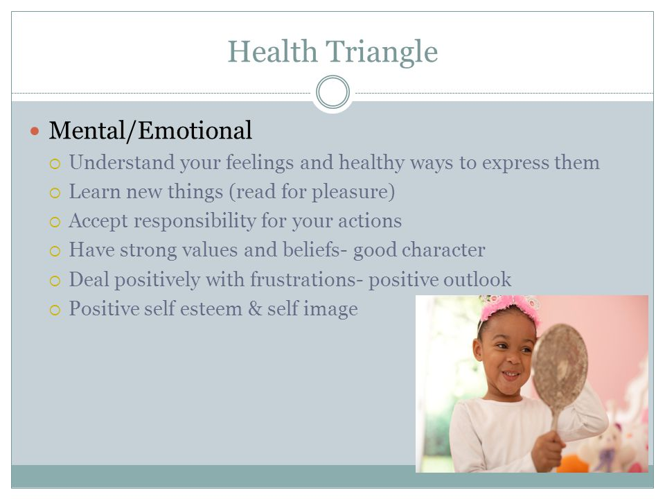 Health Triangle Mental/Emotional