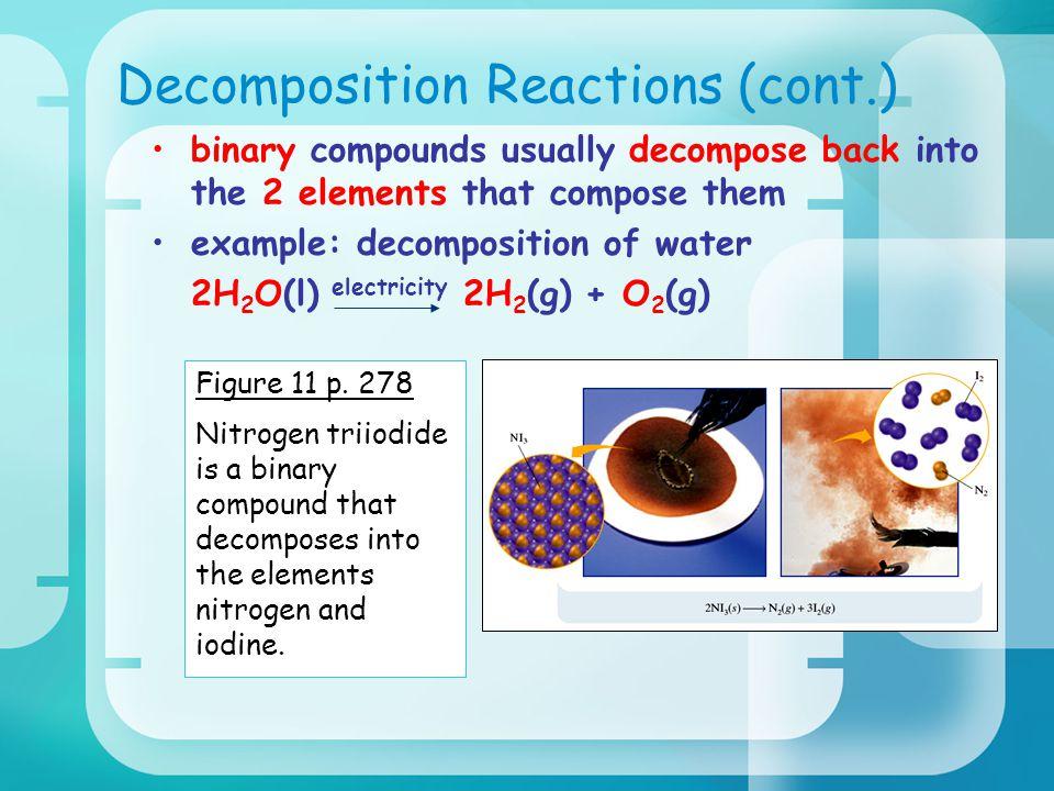 Decomposition Reactions (cont.)