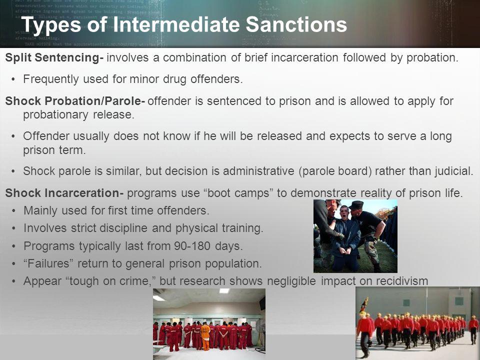 Types of Intermediate Sanctions