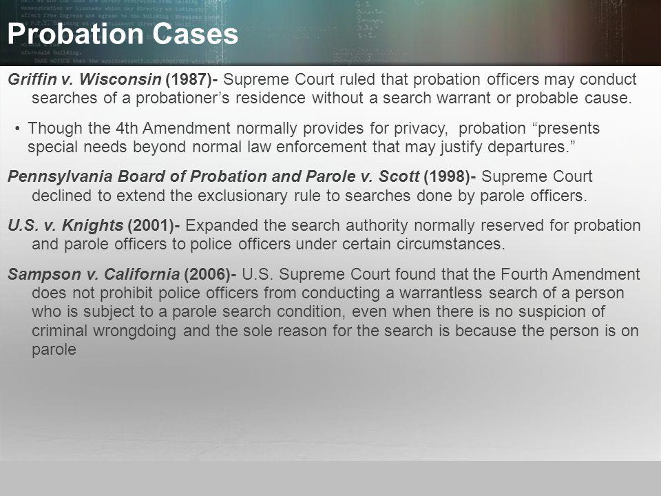Probation Cases