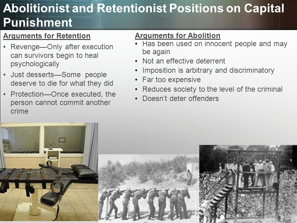 Abolitionist and Retentionist Positions on Capital Punishment