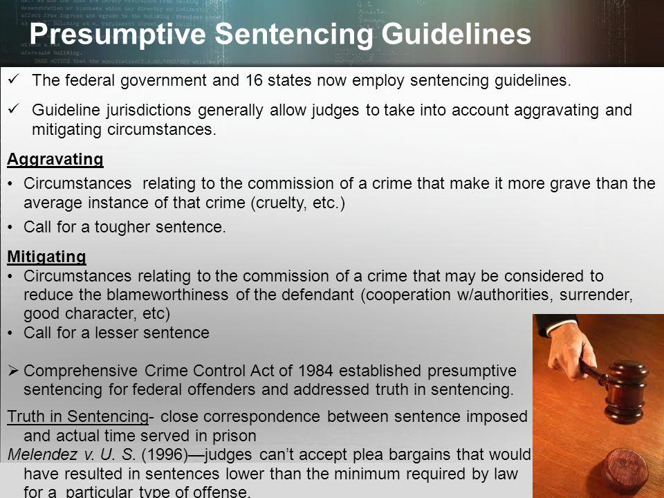 Presumptive Sentencing Guidelines