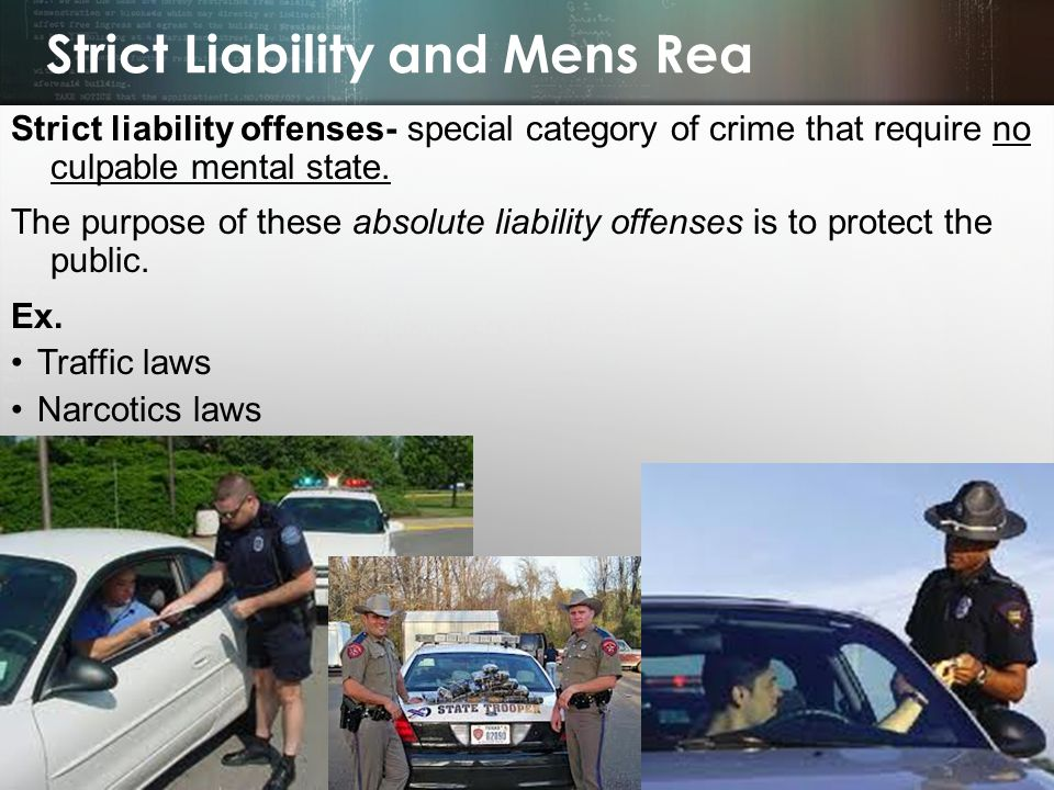 Strict Liability and Mens Rea
