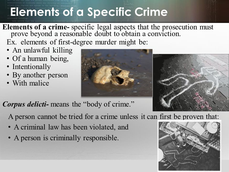 Elements of a Specific Crime