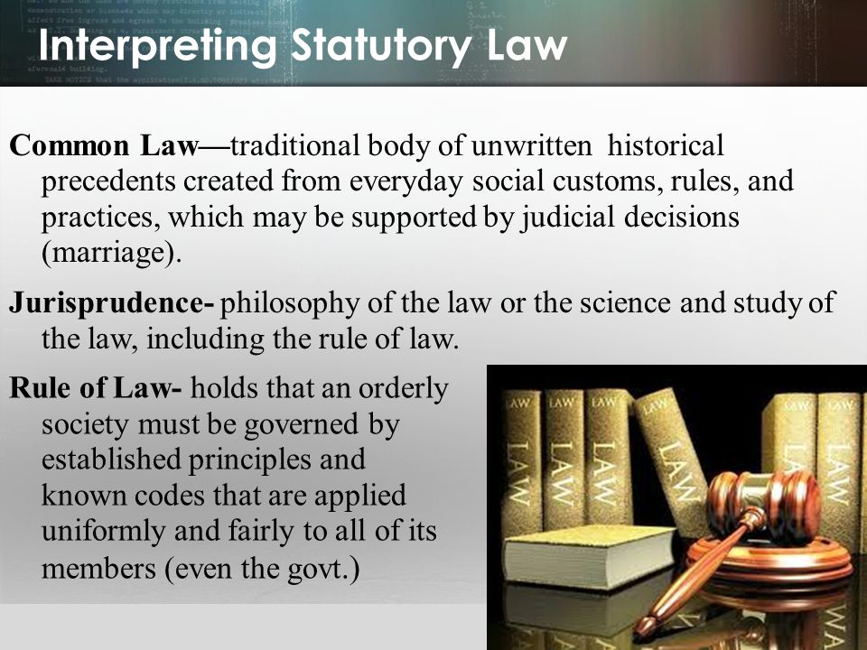 Interpreting Statutory Law