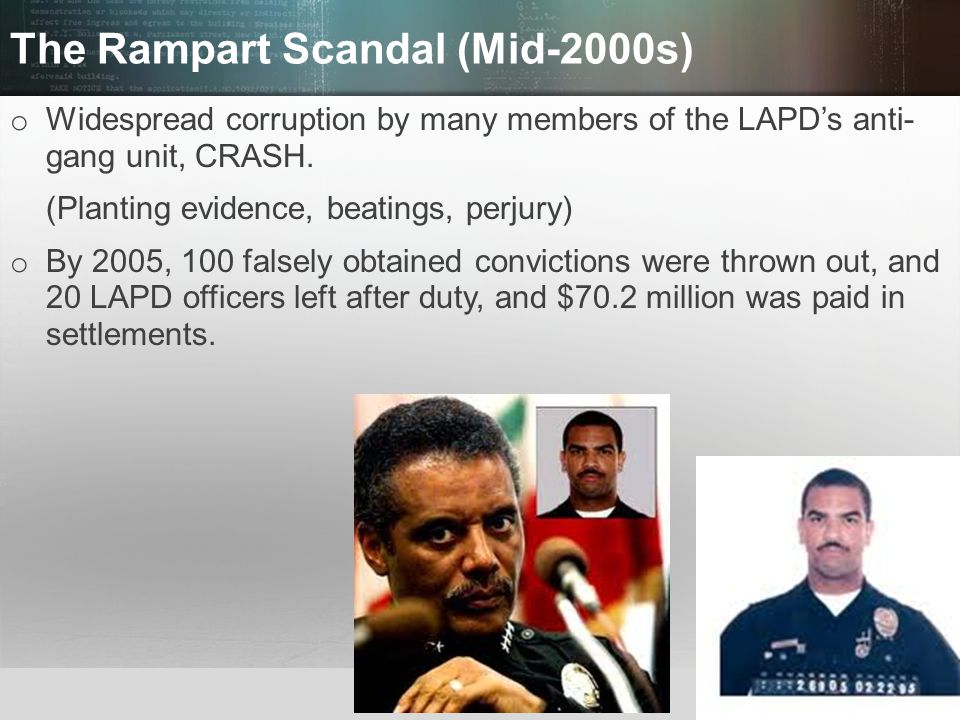 The Rampart Scandal (Mid-2000s)