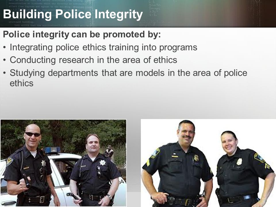 Building Police Integrity